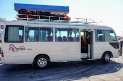 The bus transfer from Marsa Alam to Luxor.