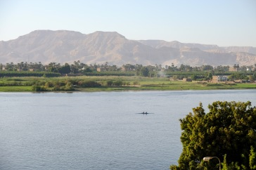 Our view of the Nile from our room at Sonesta St. George in Luxor.