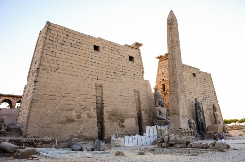 The entrance to the Temple of Luxor.