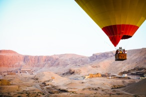 Hatshepsut's Temple from hot air balloon.