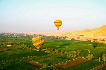 Hot air balloon ride over Luxor.