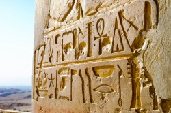 Hieroglyphs at Hatshepsut's Temple.