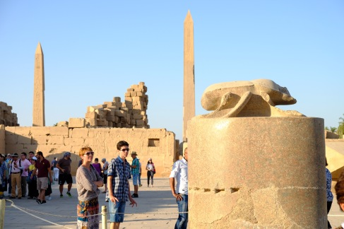 We walked around the largest scarab beetle in Egypt three times for good luck.