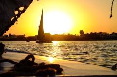 Sunset cruise on the Nile.