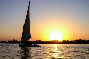 Sunset cruise on the Nile.