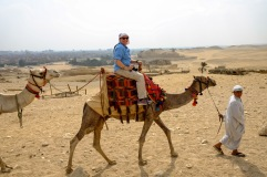 Jill Petik on her camel.