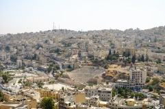 The view of the Roman Amphitheater from the Amman Citadel.