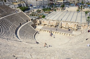 Roman amphitheater in Amman.