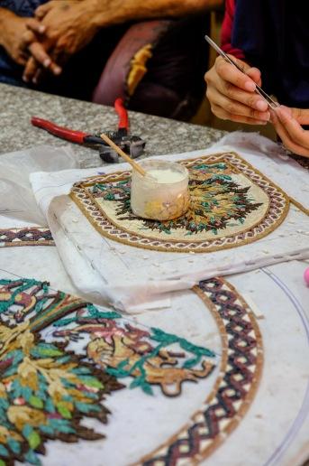 Handmade mosaics in Jordan.