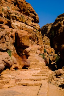The first of the 800 steps to the Monastery.