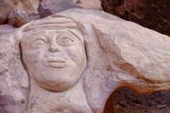 A face of an elder Bedouin leader.