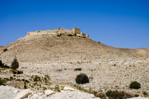 Even more majestic from afar: Shobak Castle.