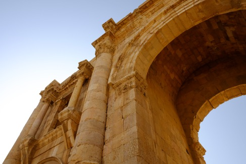 One of the city gates at Jerash.