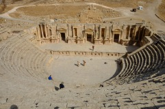 A Colosseum in Jerash where a bagpiper played for us as we climbed around.